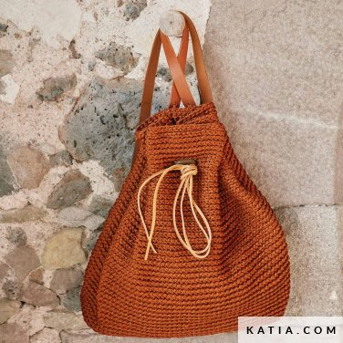 pattern knit crochet woman backpack autumn winter katia 8030 420 p