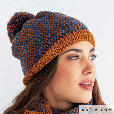 pattern knit crochet woman cap autumn winter katia 8030 460 p
