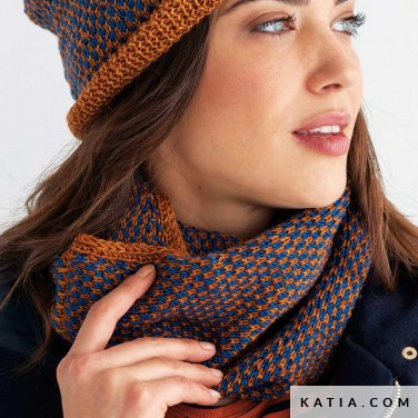 pattern knit crochet woman cowl autumn winter katia 8030 462 p