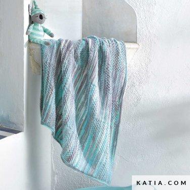 patroon breien haken baby deken lente zomer katia 8031 444 p