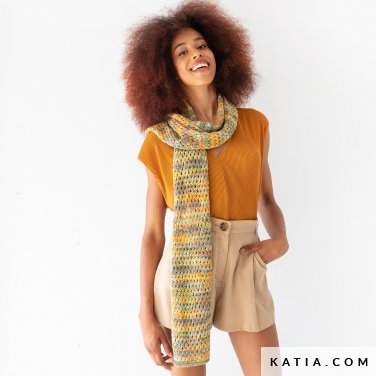 patroon breien haken dames stola lente zomer katia 8031 448 p