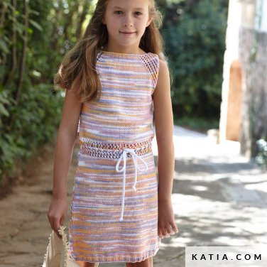 patroon breien haken kinderen jurk lente zomer katia 8031 440 p