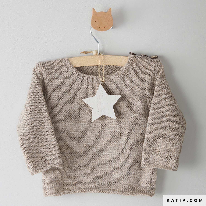 patroon breien haken baby trui herfst winter katia 8032 456 g