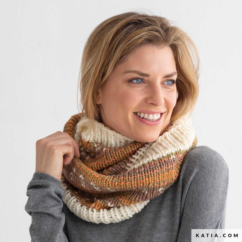 patroon breien haken dames colsjaal herfst winter katia 8032 471 g