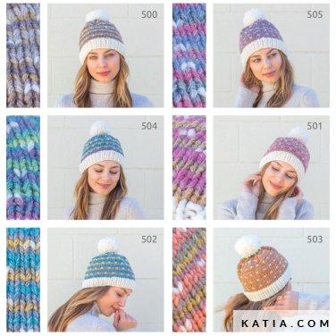 patroon breien haken dames muts herfst winter katia 8032 470 p