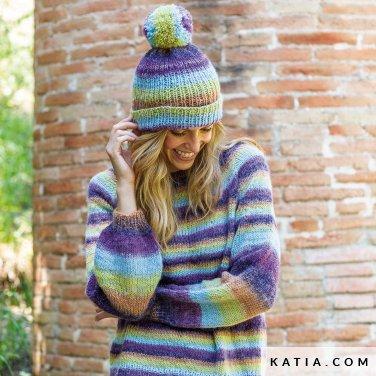 patroon breien haken dames set herfst winter katia 8032 406 p