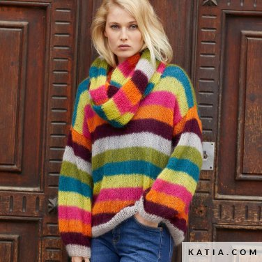 patroon breien haken dames set herfst winter katia 8032 466 p