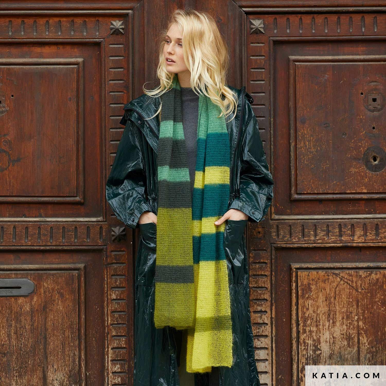 patroon breien haken dames sjaal herfst winter katia 8032 468 g