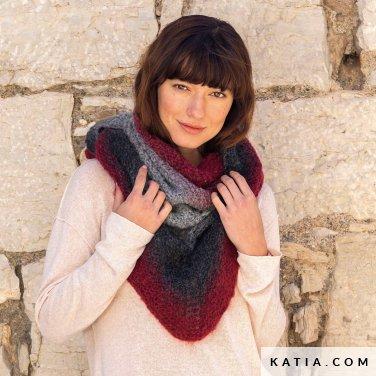 patroon breien haken dames stola herfst winter katia 8032 480 p