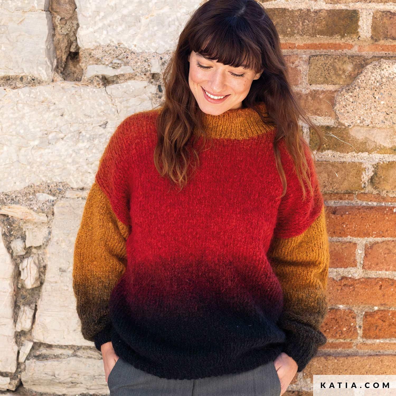 patroon breien haken dames trui herfst winter katia 8032 478 g