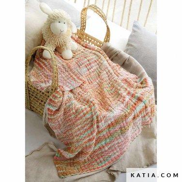 patroon breien haken baby deken lente zomer katia 8033 482 p