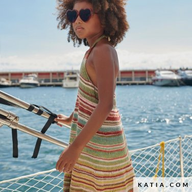patroon breien haken kinderen jurk lente zomer katia 8033 488 p