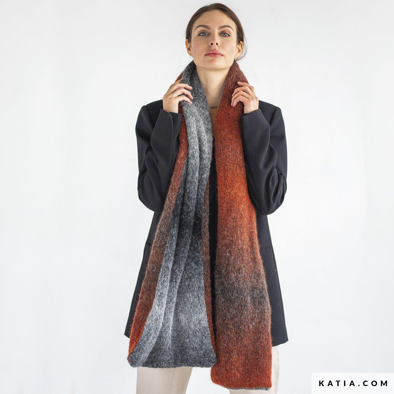 patroon breien haken dames sjaal herfst winter katia 8034 482 01 g