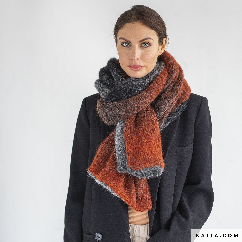 patroon breien haken dames sjaal herfst winter katia 8034 482 g