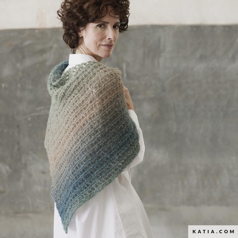 patroon breien haken dames stola herfst winter katia 8034 456 g