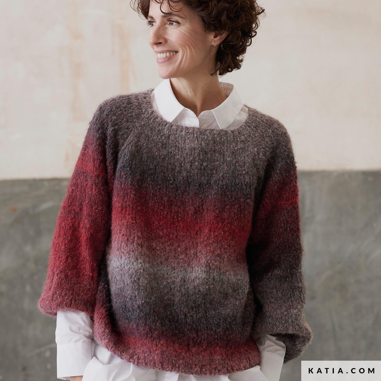 patroon breien haken dames trui herfst winter katia 8034 458 g