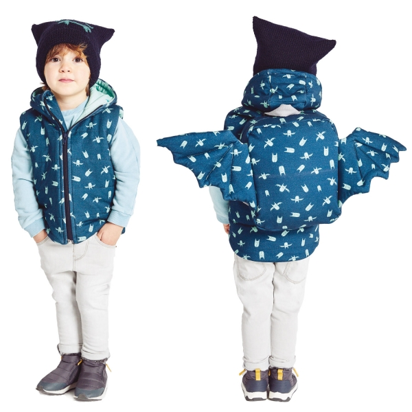 L17 Sleeveless Jacket Backpack, Winter Coat Sewing Pattern Baby