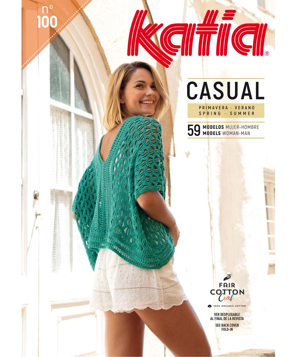 fe1e23647c3daa New book magazine pattern knit crochet woman spring summer katia 6122_es en