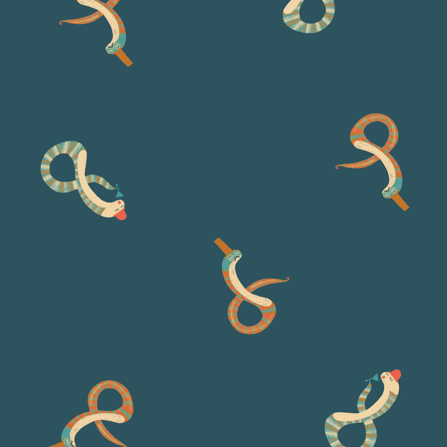 W7 - Tissu Snake's Party - Automne / Hiver